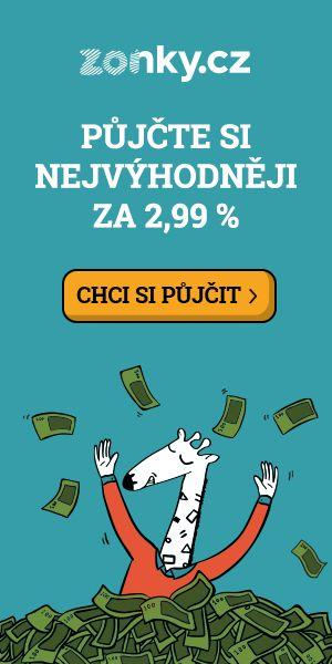 Zonky nejlevnější půjčky od 2,99%