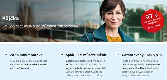 Česká spořitelna - Výhody bankovní půjčky