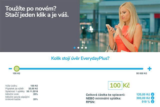 Everyday půjčka -Kalkulačka splátek