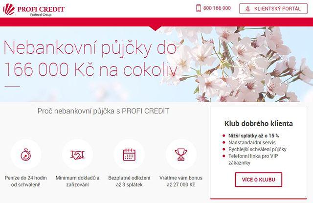 Profi Credit - Výhodná půjčka do 166 000 Kč